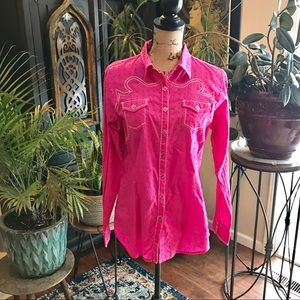 Ariat western button down embroidered shirt